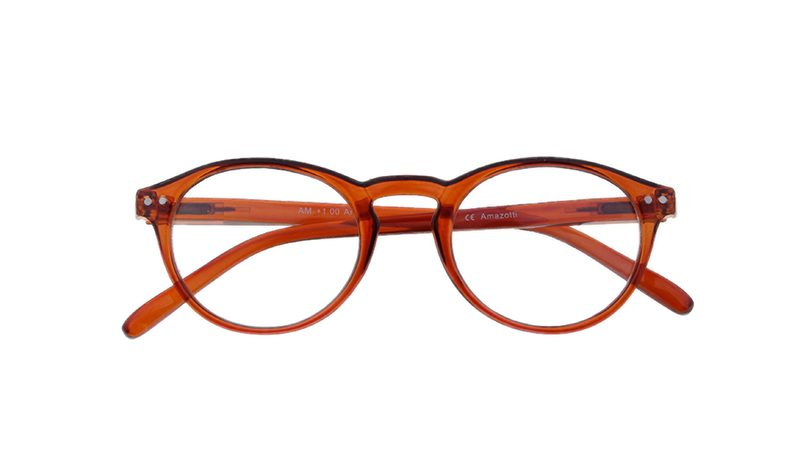 Arezzo model leesbril - Frontview - Amber