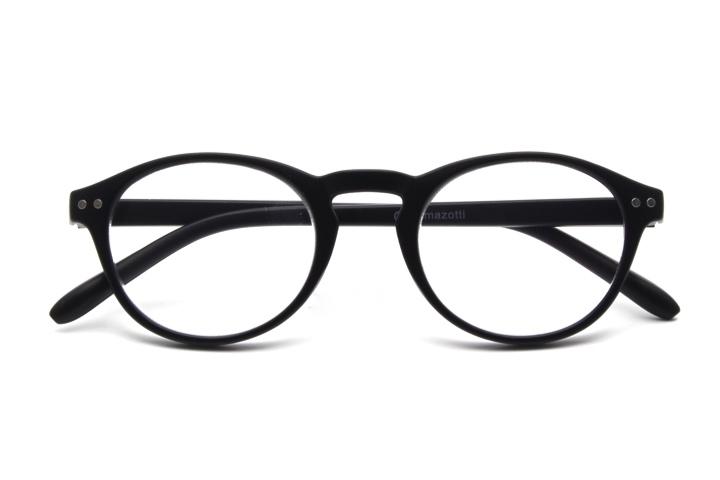 Arezzo model leesbril, zwarte kleur, frontview, gesloten pootjes