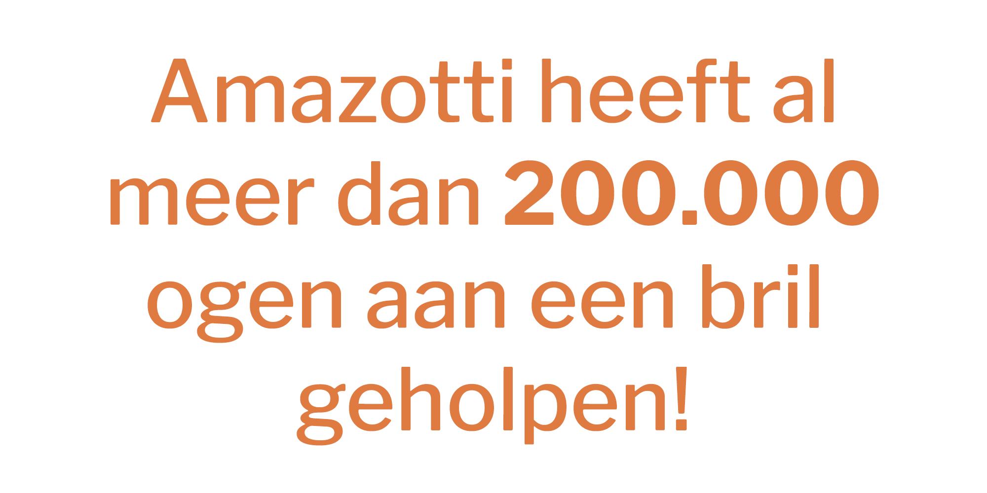 Amazotti heeft al meer dan 200.000 ogen aan een bril geholpen! - banner