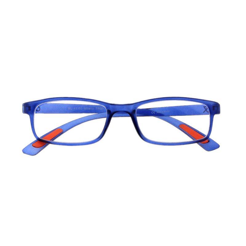 Milano leesbril - Frontview - Blauw - Voorbeeldfoto