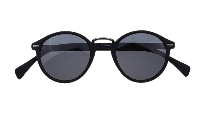 Napoli Zonnebril - Frontview - Productfoto - Zwart, zwarte glazen