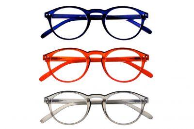 Arezzo Leesbrillen Set - Blauw, Amber & Grijs - 1200x800